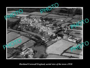 OLD 8x6 HISTORIC PHOTO OF HARTLAND CORNWALL ENGLAND VIEW OF THE TOWN c1930 1
