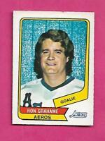 RARE 1976-77 OPC WHA # 107 AEROS RON GRAHAME GOALIE EX-MT CARD (INV# A8645)