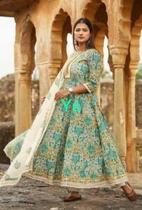 Indian women kurta kurti dupatta palazzo set cotton ethnic salwar kameez dress