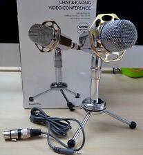 Nouveau ruban desktop microphone mic f pc ordinateur portable mac karaoke skype msn