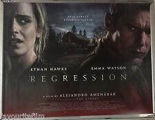 Cinema Poster: REGRESSION 2015 (Quad) Emma Watson Ethan Hawke David Thewlis