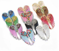 Fashion Vintage Angel Wings Brooch Pins Jewelry Gift Antique Gold Color Rhine