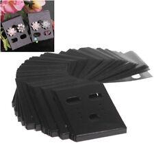 100PCS Black Plastic Earring Ear Studs Hanging Holder Stands Display Hang Cards