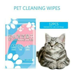 Wipes Wet Pet Eye Dog Cat Tear Stain Remover Cleaning UK Grooming Towels A5T0