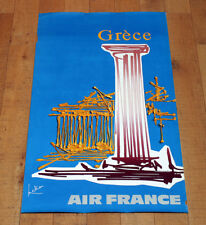 AIR FRANCE GRèCE poster manifesto affiche Mathieu Informalism Tourism Art