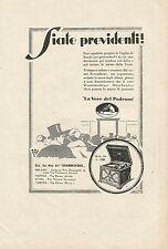 W0177 Grammofono La Voce del Padrone - Pubblicità 1929 - Advertising