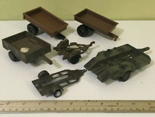 Miniature Toy Trailer Weapons Transport Wagon Hitch Carts New Ray & Boley '95-01