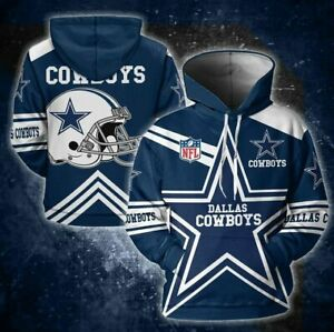 Dallas Cowboys Blue Star 3D All Over Print Hoodie, DC Football Pullover Hoodie