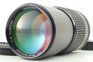 [ N MINT ] Minolta MD TELE ROKKOR 200mm f/4 MF Telephoto Lens Manual From JAPAN