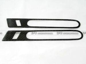 For Nissan R35 GTR 2pcs Carbon Fiber Side Exterior Outer Door Handle Trim Cover