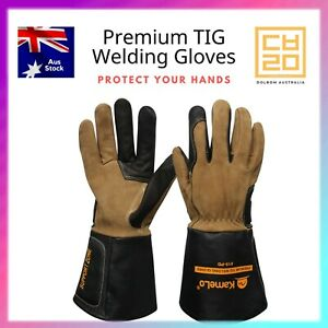Premium TIG Long Leather Welding gloves, 819 - KameLo