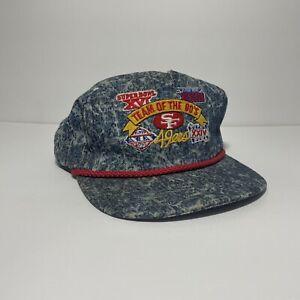 VTG SF 49ers Team of the 80's Superbowl Acid Wash Hat sports specialties NFL