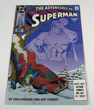 Adventures of Superman #474 Signed by Dan Jurgens & Mike Carlin! DC COMICS 1991