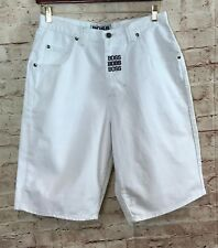 NWT Boss by L G Design Shorts Mens Size 34 Certify White Carpenter XL Patch