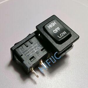 1/5PCS DEFOND CRT-1215-Y Rocker Switch 3 Pins 3 Positions 15A 125VAC 7.5A 250VAC