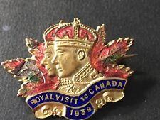1939 Royal Visit To Canada Enamel Pin