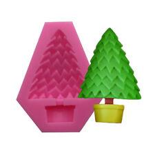 3D Christmas Tree Silicone Fondant Cake Sugarcraft Chocolate Decor Mould DIY N7