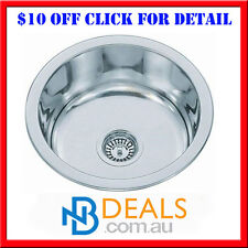 New Round 304 Stainless Steel 430mm Kitchen Sink Basin Undermount Hand made