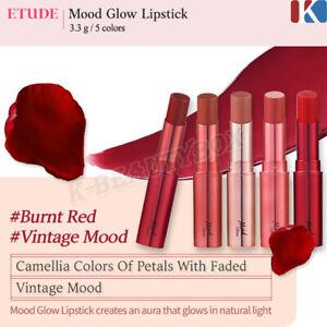 Etude House Mood Glow Lipstick 5 Colors Vivid strong Lip Stain Korean Cosmetics