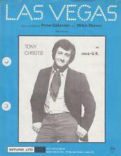 Las Vegas - Tony Christie - 1970 Sheet Music