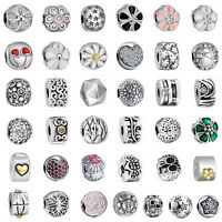European 925 Sterling Clip Spacer Silver Charms Bead for Bracelet Chain US2