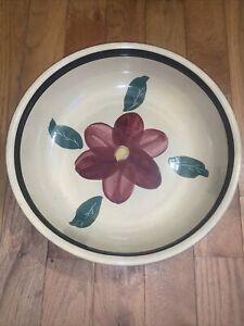 "Vintage Watt Rio Rose -Spaghetti Bowl- Ovenware RF 13.5"" Large Serving Oven Ware"