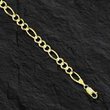"10kt Solid Yellow Gold Figaro curb link chain/necklace 22"" 5.3 MM  15 grams"