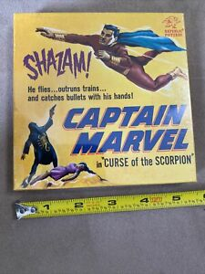 "VINTAGE 8MM SHAZAM CAPTAIN MARVEL, in CURSE OF THE SCORPION 5"" SILENT B&W NEW"