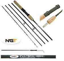 NGT 7.5ft Lightweight Carbon Spin Fly Convertable Travel Fishing Rod 5 Sections