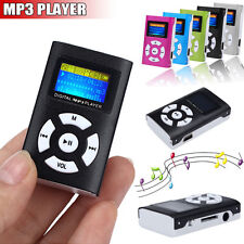 USB Mini Clip MP3 Player LCD-Bildschirm Digital Musik Medien 32GB Micro SD TF