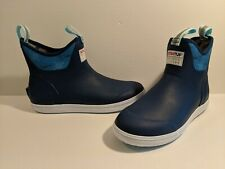"""XTRATUF Salmon Sisters 6"""" Ankle Deck Boots Navy Blue Women's 11 US Brand New"""