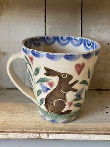 Bell Pottery Spongeware Tapered Mug