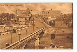 Greenville South Carolina SC Postcard 1920-1930 Main Street Viaduct