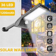 2800LM Solar Street Wall Light PIR Sensor Outdoor Waterproof Dusk to Dawn Lamp