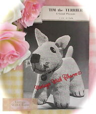 Vintage 1930s Toy Dog Knitting Pattern 'Tim The Terrier' JUST £2.49!!!