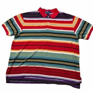 Polo Ralph Lauren 90s Southwest Multicolor Stripe Pique Short Sleeve Polo, 2X