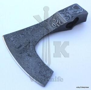 JNR001 Custom Handmade Damascus Steel AXE / Hatchet Head