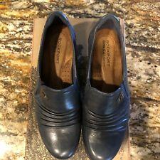 Rockport Cobb Hill Adele Slip-On Leather Dress Shoes Heels women's size 8.5 M