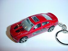 NEW 3D DEEP RED DODGE CHARGER R/T CUSTOM KEYCHAIN KEY keyring mopar HEMI RT