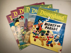 Lot Of 6 1972 Disneyland Magazines For Young Readers.
