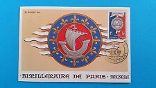 FRANCE CARTE MAXIMUM YVERT 906 BATELIERS PARIS BATEAU 15F CLUNY 1951 L 399