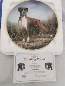 Boxer Dog Collectors Plate Danbury Mint