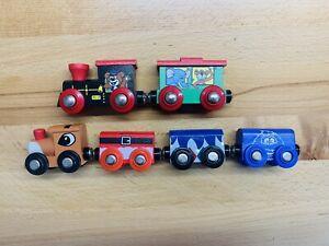 Rudolph Reindeer & Bumble & Santa Wooden Train Set Fits BRIO Thomas Track