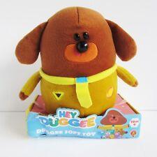 Hey Duggee soft toy plush beanie 2014 Golden Bear non-talking CBeebies