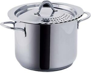 Bialetti Aeternum Divina Pasta Pot 22 cm 6Lt for All Hobs (Including Induction)