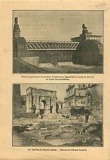 Lock in Vienna Danube Austria/Foro Romano Roman Forum Rome 1910 ILLUSTRATION
