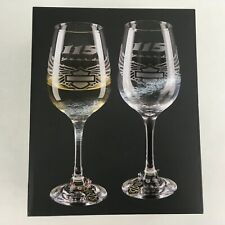 Harley-Davidson 115th Anniversary Wine Glass Set of Two 14oz. Glasses NEW in Box