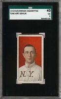 Rare 1909-11 T206 Art Devlin Sovereign 350 New York SGC 40 / 3 VG