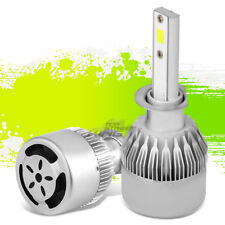 H1 LED 6000K 6K WHITE LIGHT LAMP REPLACEMENT BULBS w/FAN UPGRADE PLUG & PLAY