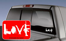 Love with Guns car decal sticker grenade pistol sniper shotgun vinyl laptop